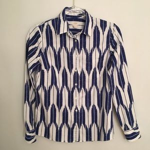 J Crew Factory Ikat Pattern Button Up Shirt